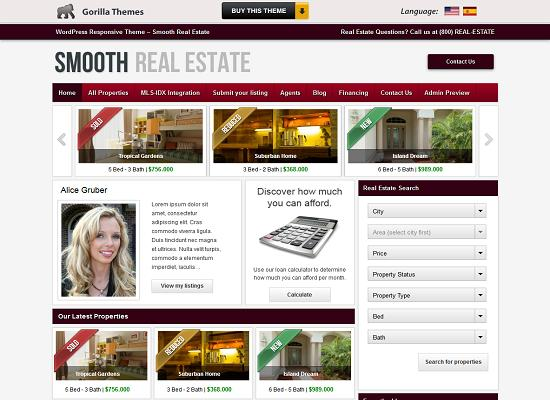 Smooth Real Estate WordPress Theme by Gorilla Themes