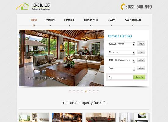 Home Builder WordPress Theme by InkThemes