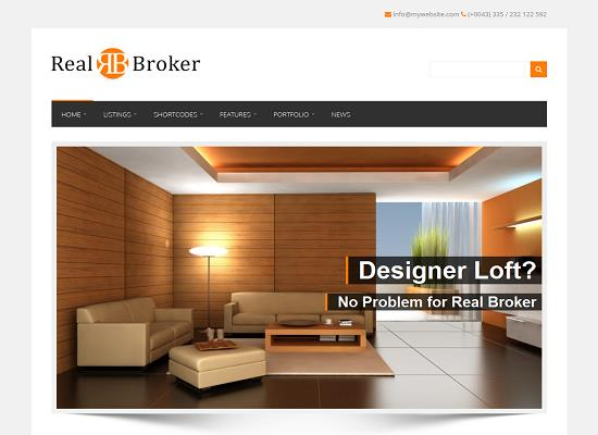 Realbroker WordPress Theme by Mojo Themes