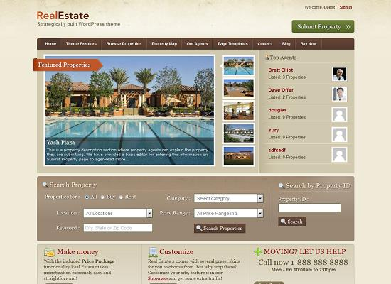 RealEstate2 WordPress Theme by Templatic