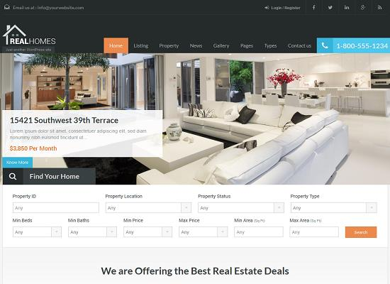 Real Homes WordPress Theme from ThemeForest
