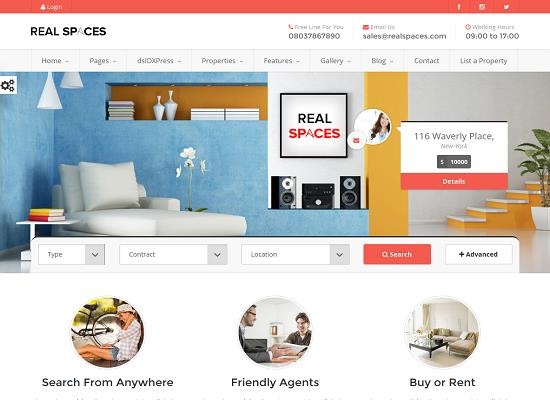 Real Spaces WordPress Theme from ThemeForest