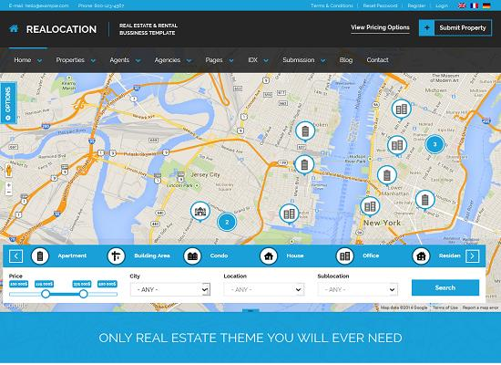 Realocation WordPress Theme from ThemeForest