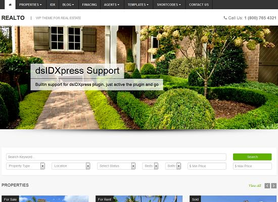 Realto WordPress Theme from ThemeForest