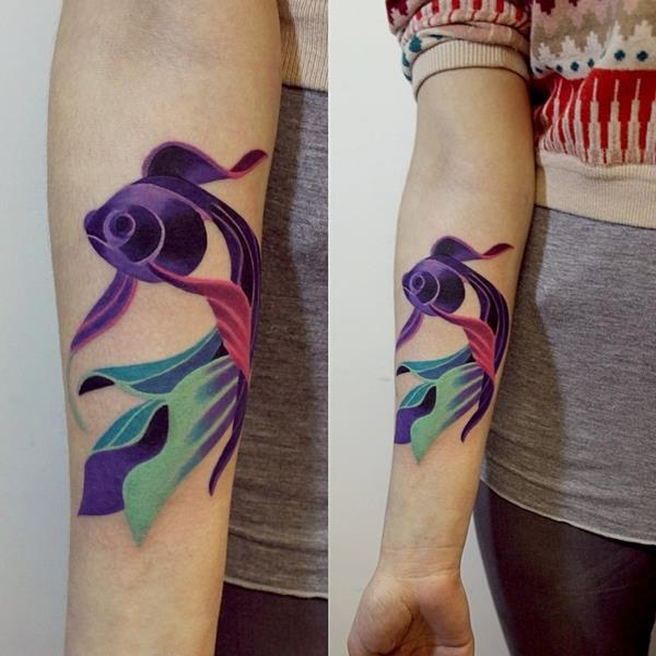 Watercolor Fish Tattoo by Sasha Unisex