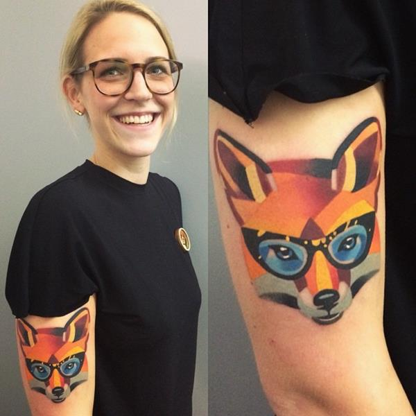Watercolor Fox Tattoo by Sasha Unisex