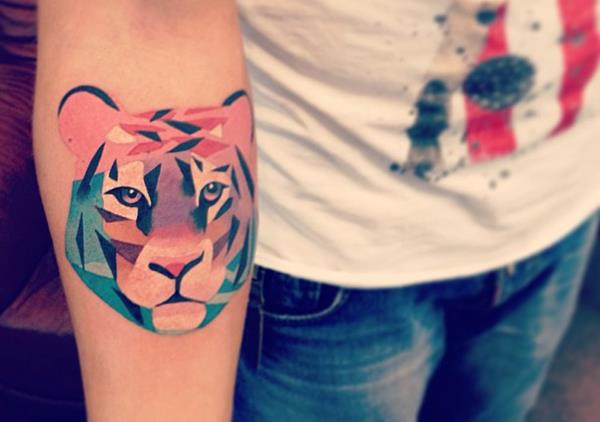 Tiger Watercolor Tattoo by Sasha Unisex